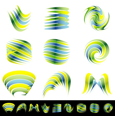 vector abstract signs for environment protection and other business Vector