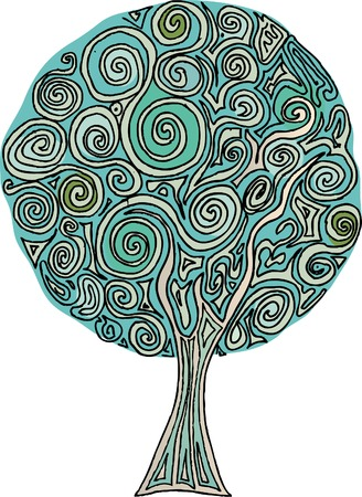 vector original hand drawn abstract tree Stock Vector - 5307856