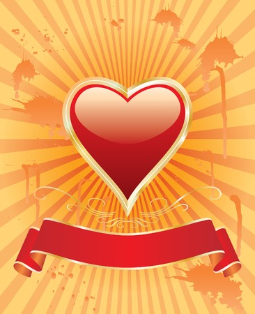 vector illustration with heart symbol Vector