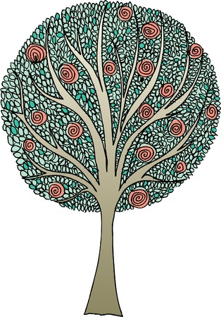 vector original hand drawn abstract tree Vector