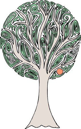 vector original hand drawn abstract tree Stock Vector - 5336311