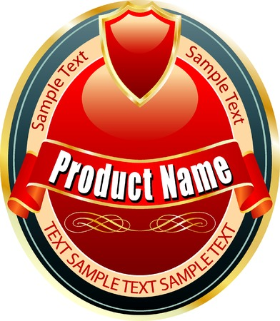 elipse: vector label for various products like beverages, food etc.