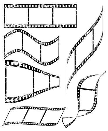 celluloid: vector old celluloid film, fully editable Illustration