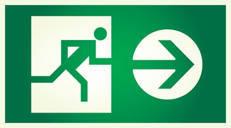 alight: vector  illuminated sign for exit