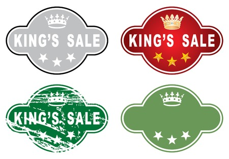 vector great sale label in four variations Vector