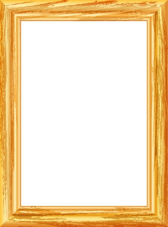 vector realistic drawing of old gilt wooden frame Vector