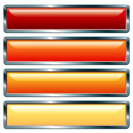 metalic: Vektor-Schaltfl�chen mit metallisch Frame, hot-Auflistung
