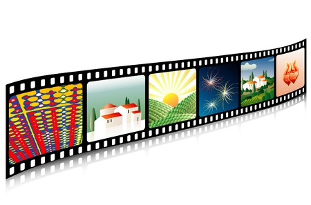 celluloid: vector celluloid film with images Illustration
