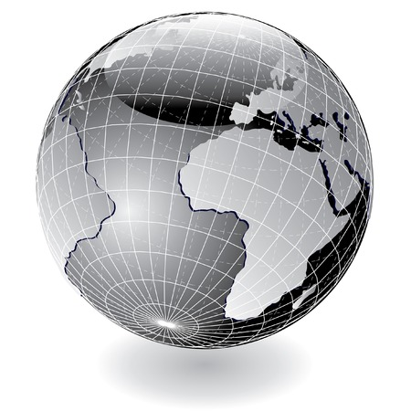 vector steely globe Stock Vector - 5560527
