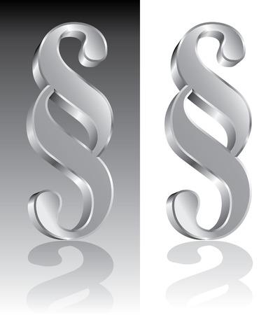 vector illustration of paragraph symbol