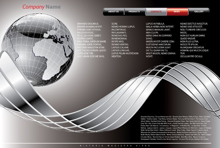 vector layout for abstract web site Vector