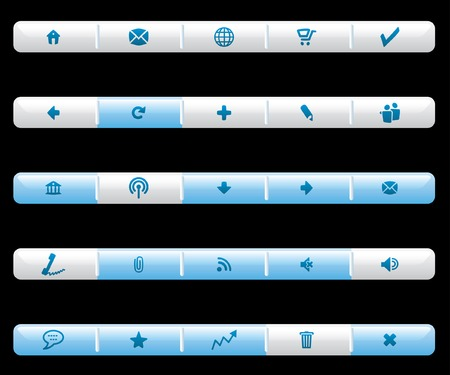 vector light buttons for web and computing, layered and fully editable  Stock Vector - 5634623
