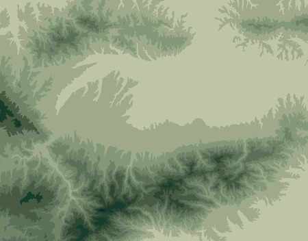 cartographer: vector background with topographic isolines of the mountains