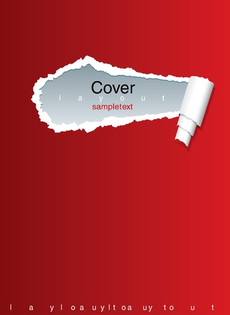 vector layout with ripped paper Stock Vector - 5885703