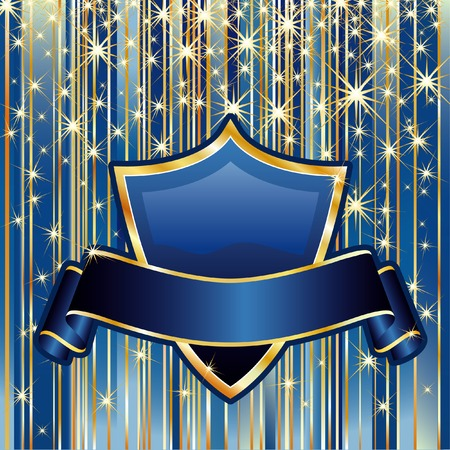blue gold: vector background in blue and gold