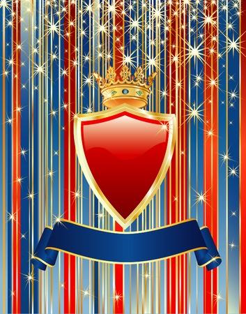 royal blue: vector card for  congratulation