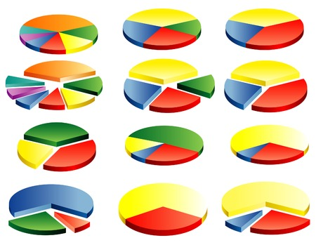 vector circle graphs in twelve different variations Stock Vector - 5890125