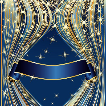 royal background: vector blue background for holidays or celebration