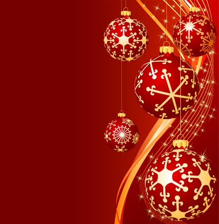vector realistic red christmas background Stock Vector - 5896980