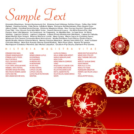 vector layout with christmas balls Stock Vector - 5896982