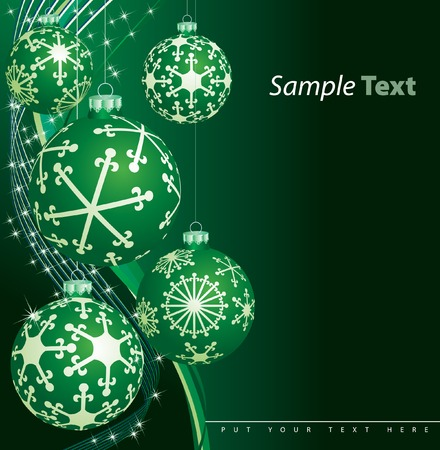 vector green background with sample text in separate layer Stock Vector - 5896983