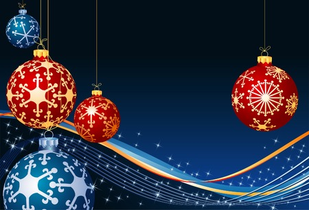 vector christmas background with balls Stock Vector - 5921768