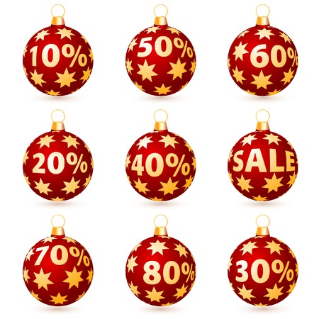number button: vector christmas balls for sale