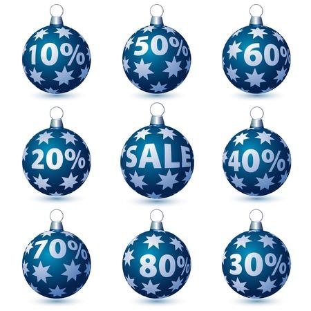 shop button: vector christmas balls for sale