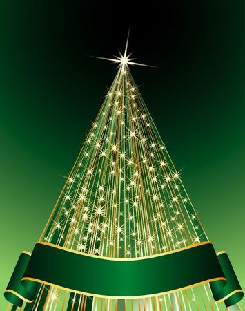 vector abstract green Christmas tree Stock Vector - 6052203
