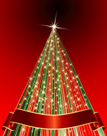 vector abstract Christmas tree Stock Vector - 6052204