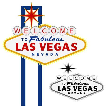 editable sign: vector Las Vegas sign, fully editable Illustration