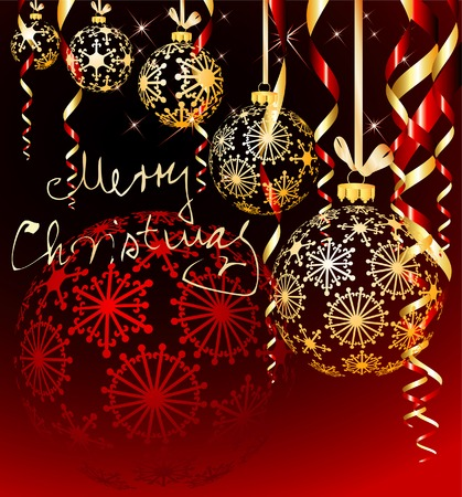 vector Christmas background in three layers Stock Vector - 6056117