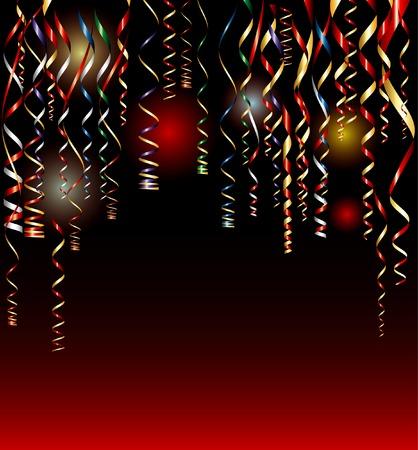 serpentinas: vector Conffeti sobre la alfombra roja