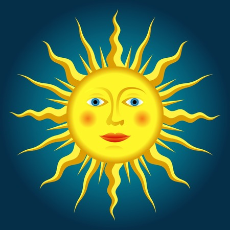 vector drawing of the renaissance sun Stock Vector - 6131179