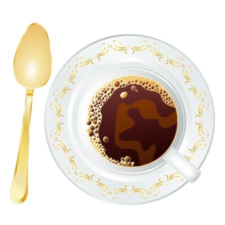 vector golden spoon Vector