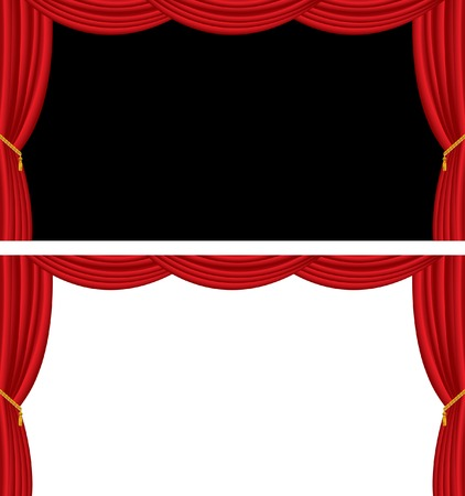 theaters: vector long stage in two variations