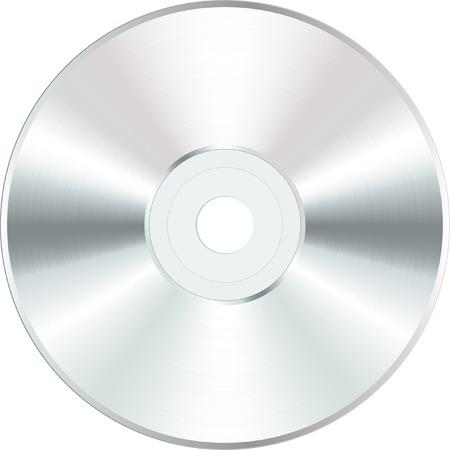 scheibe: CD oder DVD Rohling vektor wei�
