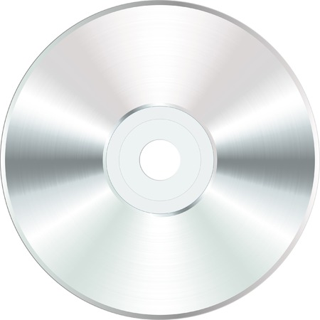 disque CD ou DVD vierge de vecteur blanc