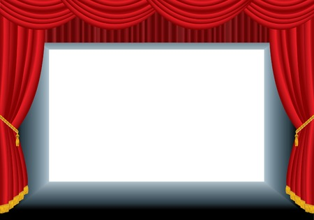 theatrical performance: vector blank cinema background- put your text or image in lower layer