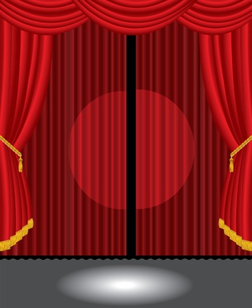 vector stage with two spotlights Stock Vector - 6303047