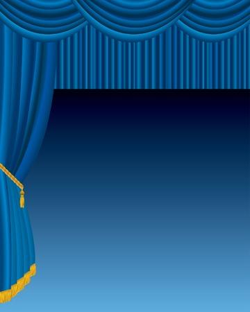 terciopelo azul: etapa de vector con terciopelo azul