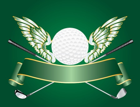 silver ribbon: abstract vector golf award