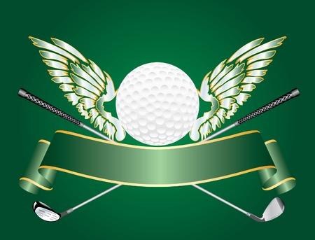 bata blanca: Premio de golf de vector abstracto