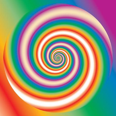 vector abstract retro psychedelic rainbow Vector