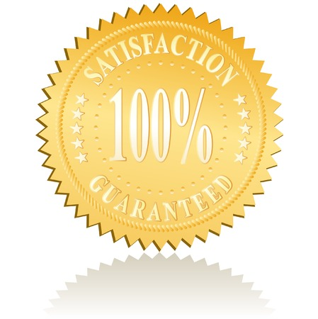 vector golden label for satisfaction Stock Vector - 6349435