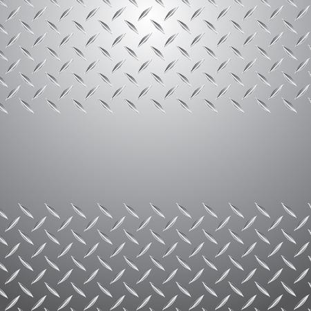 pavimento lucido: placca di metallo bianco vettoriale
