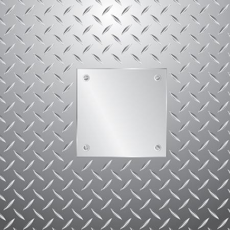 pavimento lucido: placca di metallo bianco vettoriale con viti