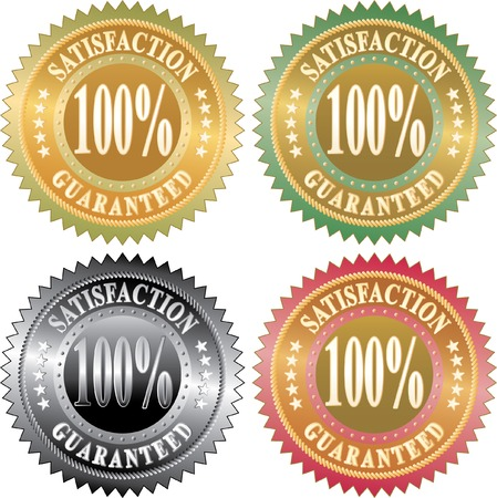 vector labels for satisfaction guaranteed Stock Vector - 6362736