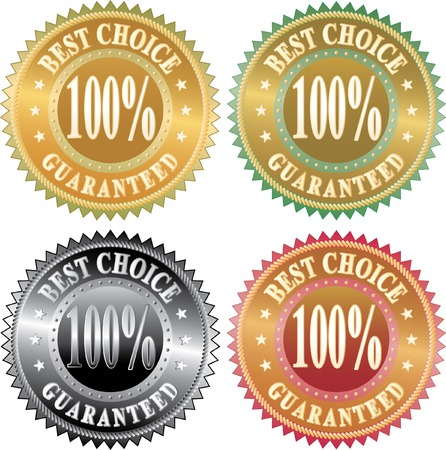 vector labels for best choice Stock Vector - 6382068