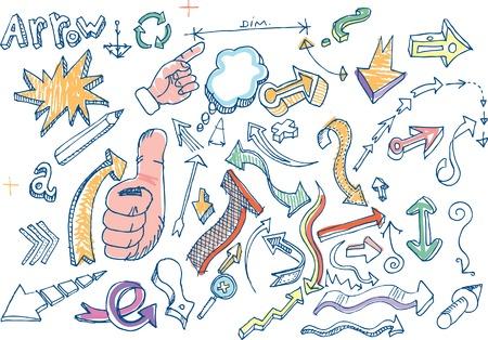 vector doodles with arrows Stock Vector - 6416758